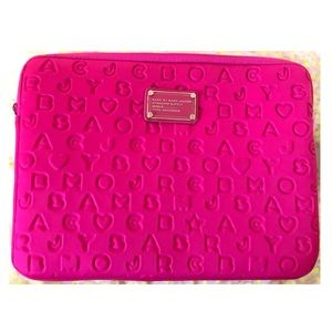 "Marc by Marc Jacobs 13"" hot pink laptop sleeve"